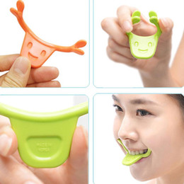 Wholesale Mouth Lift - New Smile Trainer Silicone Smile Brace Face Line Muscles Stretching Lifting Training Mouth Smile Maker Facial Messager