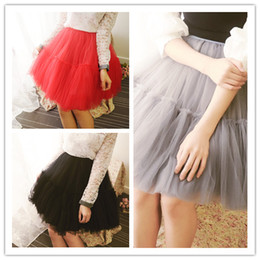 Wholesale Tulle Dresses For Little Bridesmaids - 2016 Wholesale Tutu Skirt Girls Wedding Party Short Bridesmaid Dresses 7 Layers Ball Gown formal Tulle Skirts For Women Event Knee Length