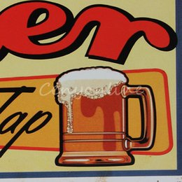 Wholesale Plaque Designs - High Quality Modern Design Tin Metal Sign Ice Cold Beer Vintage Chic Pub Bar Tavern Decor Wall Plaque order<$18no track