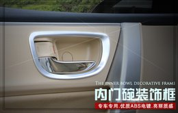 Wholesale Door Handle Chrome Toyota - Free Shipping! High quality ABS chrome 4pcs car internal door handle trim frame for Toyota Corolla 2014