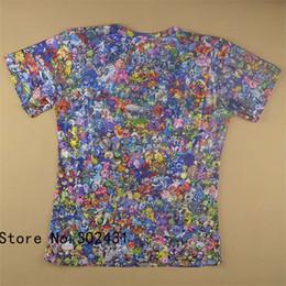 Wholesale Men V Neck Tshirts - Alisister 2015 New fashion shirt tops Women men Cartoon peluche Collage 3d t shirt print funny tshirts plus size