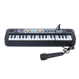 Wholesale Kids Piano Microphone - 37 Keys Multifunctional Mini Electronic Keyboard Music Toy with Microphone Educational Electone Gift for Children Kids Beginners