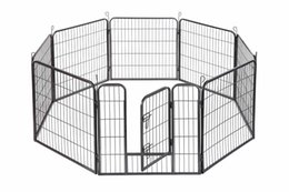 """Wholesale dog cage large - 24"""" Dog Playpen Crate 8 Panel Fence Pet Play Pen Exercise Puppy Kennel Cage"""