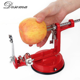 Wholesale Tool Peeling Apples - 3 In 1 Apple Peeler Slicing Stainless Steel Fruit Machine Peeled Tool Creative Home Kitchen Vegetable Potato Slicer Cutter Bar