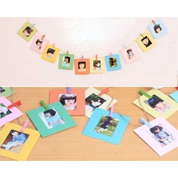 Wholesale Photo Clip Frames - 20pcs Hang Frame Clip For Fujifilm Instax Mini 90 8 7s 25 Polaroid Photo Film