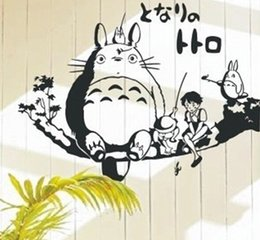 Wholesale Tree Branch Wall Decals - Onlinegame Totoro On Tree Branch Home Decor Children's Present Christmas Birthday Gift Wall Sticker Decal