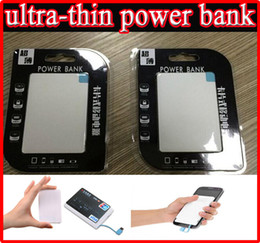 Wholesale Small Power Bank - 2600mah Ultra Thin Credit Card Power Bank 2600 mah USB Promotion PowerBank with Built In USB Cable Backup Emergency Super Light Small