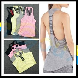Wholesale Tight Ladies T Shirt - marathon Fitness running Workout Sleeveless T-shirt Tank tops lady sexy Clothes tight Yoga Singlets Gym sports vest Tunics