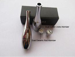 Wholesale Vision Coils - HOT!! Vase cannon Bowling Atomizer Dry Vaporizer wax Dual Coil Rebuildable Stainless Steel Vase Shape Metal Vapor Vision E Cigs VS Skillet