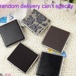 Wholesale Iron Cigarette Case - Fashion New Arrival Leather And Aluminum Metal Cigarette Case Box Cigarette Holder Smoking Accessories