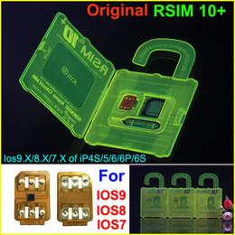 Wholesale Used Sprint - R-SIM 10+ R SIM 10plus RSIM 10+ Rsim10+ Unlock Card for iphone 6s 6 5S 5 4S ios9.1 ios9.0 9.x 3G 4G CDMA SPRINT SB AU direct use no Rpatch
