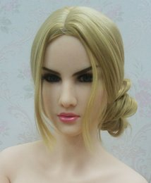 Wholesale Life Size Head Sex Toy - DL #104 silicone sex doll head adult doll accessory real doll heads for oral sex toy 135cm-176cm