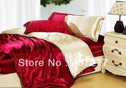 Wholesale Top Selling Bedding Sets - luxury top selling bedding sets for 1.5-1.8m bed silk&cotton fabric queen quilt duvet cover coverlet bedspread comforter bed set