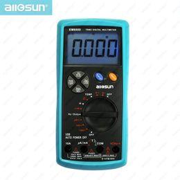 Double compteur de température en Ligne-Multimètre numérique True RMS Dual Fuse LCD Auto AC DC Voltmètre Ohm Amp Testeur de Température Tous Sun modèle EM6000