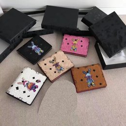 Wholesale Korea Fashion Hot - Free Shipping 2017 New Fashion Hot Sale South Korea 2 fold 3D rabbit wallet