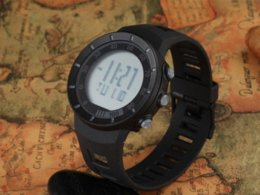 Wholesale Digital Auto Meters - Outdoor Sport Digital Men Watches 50 Meters Waterproof Black Rubber Wrist Band Plastic Round Case Electronic New Items For Boys