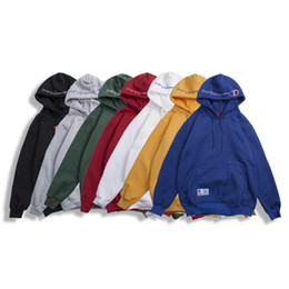 Wholesale Men Pullover Hoodies Wholesale - NEW Famous Brand hoodies Men Hoodies Super me Hooded Boys sweater O-Neck Fleece Spell color Couple Sweatshirts High Quality Message pictures