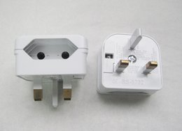 Wholesale Euro Adapter Plug - European EURO EU 2 To 3 Pin UK Universal Travel Adapter Main Plug Converter white Black Bottom Loading Flat   Diamond Socket Shape 100 piece