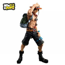 Wholesale Anime One Piece Ace - Anime Japanese Catoon One Piece POP DX Fire ACE the 10th Anniversary Special Edition PVC Action Figure Collectible Model Toy