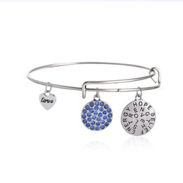 Wholesale Alex Ani Silver - European and American fashion jewelry and Ani hope style believe, Alex China World Trade Center Blue Diamond Bracelet