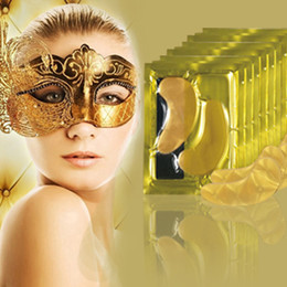 Wholesale Gold Eye Collagen - 2000pairs Factory sale Crystal Collagen Gold Powder Eye Mask Crystal Eye Mask Top Quality