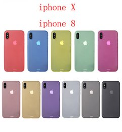 Wholesale Protect Cell Phone - PP Cases for iPhone X 8 8plus Solid color Cell cover protect Scrub phone shell