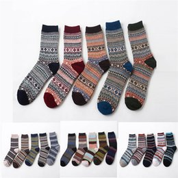 Wholesale hot winter thick socks - Hot Wool Socks New Style Women Men Winter Thermal Warm Socks Fashion Colorful Thick Socks Ladies Girls Retro Rabbit Wool Casual Sock BB120
