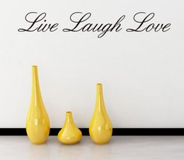 Wholesale Live Laugh Love Quotes - live laugh love quote wall stickers home decorations diy removable vinly wall decals bedroom wall decals hot selling