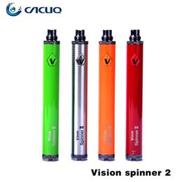 Wholesale Ego Spinner Vv - Original Vision Spinner 2 Battery Variable Voltage Vision Spinner2 Battery Authentic Vision Spinner 2 VV Battery 1650mah ego batteries
