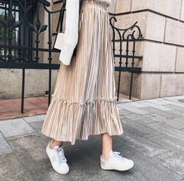 Wholesale Long Skirts Tall - In long pleuche skirts of pleated skirt of tall waist a word han edition autumn winter 2017 new skirt joker render skirt