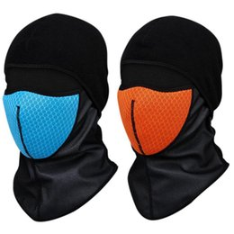 Wholesale Face Mask Winter Running - Wholesale- Winter Cycling Cap Windproof Thermal Face Mask Sport Ski Running Bike Bicycle Neck Hat Head Scarf Men