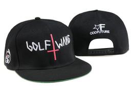 Wholesale Golf Wang Caps - New fashion odd Future Golf Wang Snapback letter baseball caps Black hats for men and women hip hop hiphop bboy cap TYMY