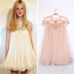 Wholesale Solid Dolls - Autumn Designer Women Cute Apricot Short Sleeve Lace Pleated Chiffon Short Dress Doll Dress vestido de festa renda curto waqia