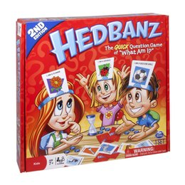 Wholesale New Kids Board Games - New Hedbanz Guess Game For Baby Interesting Family Party Poopyhead Board Game Trading Card Games free shipping
