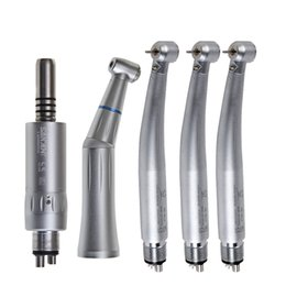 Wholesale High Speed Contra Angle Handpiece - 3 Dental LED High Speed Handpiece E-generator + Low Speed Handpiece Contra Angle