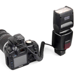 Wholesale Speedlite Ttl - 3M TTL Off-Camera Flash 2-HotShoe Sync Extension Cable Cord for Canon Speedlite cord plug cable pp