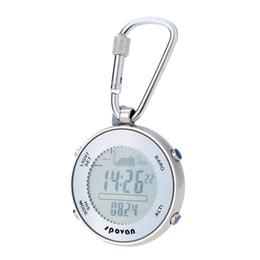 Wholesale Digital Weather Watch - PVC Outdoor Digital Fishing Barometer Pocket Watch+Hook&Elastic Rope Weather Forecast Thermometer Altimeter Multifunctional