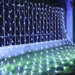 Wholesale Led Twinkle Curtain Lights - Christmas Lights LED String Lights 3*2m 6*4m Net Mesh Fairy Twinkle flash lamp Home Garden Christmas Wedding Xmas tree party Decora