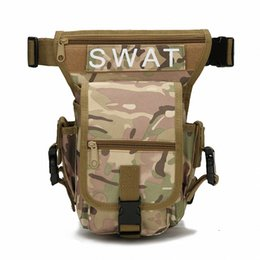 Wholesale Thigh Pouches - Outdoor Waterproof Tactical Stylish Military Solid Utility Thigh Pouch Waist Belt Pouch Sports Drop Leg Bag