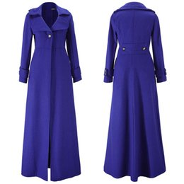 Wholesale Trench Elegant - S5Q Womens Elegant Slim Autumn And Winter Wool Blend Jacket Long Trench Coat AAAFSR