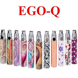 Wholesale E Cig Patterned - Ego Battery ego Q Cigarette Battery exquisite ego battery 1100 luxury various styles fashion pattern e cig factory supply