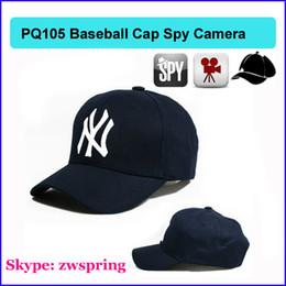 Wholesale Mini Camcorder Remote Control - 8GB Cap Hat spy Camera Baseball Cap Hat hidden camera video Camcorder with Remote Control outdoor Mini DVR Video Recorder PQ105