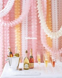 Wholesale Paper Garland Decoration - Free Shipping 10pcs Paper garland Wedding Party Birthday Baby shower Nursery decoration