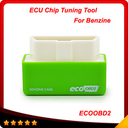 Wholesale Fuel Economy Chip - 2016 New Plug and Drive EcoOBD2 Economy Chip Tuning Box for Benzine 15% Fuel Save Less Fuel and Less Emission