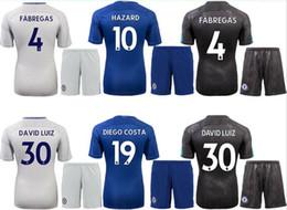 Wholesale Wholesale White Uniform Shirts - 17 18 Chelsea home away best quality soccer uniforms FABREGAS KANTE HAZARD PEDRO DIEGO COSTA DAVID LUIZ soccer kit football shirt