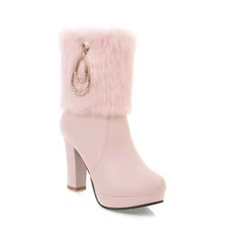 Wholesale Platform Pumps Ankle Boots - Autumn Winter Ankle Boots Fashion Platform Boots Sexy High Heels Casual Pumps Ladies Shoes ankle for women boots