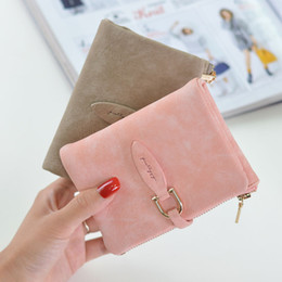 Wholesale Coin Snap Wallet Women - Lady Snap Fastener Short Clutch Wallet Vintage Matte Women Wallet Fashion Small Female Purse Mini Coin Card Holder