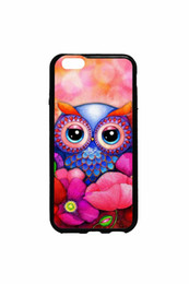 Wholesale Galaxy S4 Mini Owl - Art Pink Owl cell phone case for iPhone 4s 5s 5c 6 6s Plus ipod touch 4 5 6 Samsung Galaxy s2 s3 s4 s5 mini s6 edge plus Note 2 3 4 5