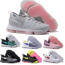 Wholesale Dark Wolf - 21 Colour Air Zoom KD 9 Mens Basketball Shoes KD9 Oreo Grey Wolf Kevin Durant 9s Men's Training Sports Sneakers US Size 7-12