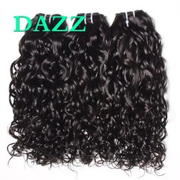 Wholesale brazilian ocean wave hair - DAZZ Brazilian Water Wave Virgin Hair 3 Bundles Natural Ocean Wave Water Wave Bundles Weave Unprocessed Wet And Wavy Human Hair Extensions